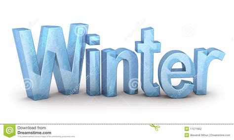 up letter to winter word winter from stock photography image 17071852