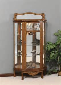 Curio Cabinet In Oak Amish Quartersawn Curio Cabinet