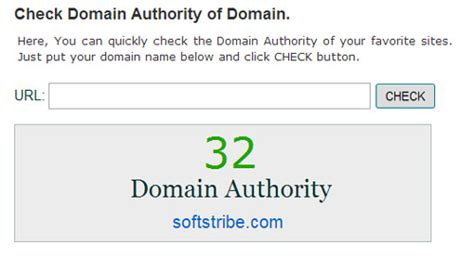 top     domain authority checkers softstribe