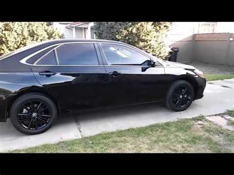 Toyota Camry Black On Black My Black 2016 Toyota Camry Se With Black Plasti Dipped