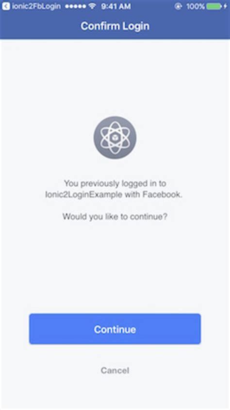 ionic tutorial facebook add facebook login to an ionic 2 app tutorials ionicthemes
