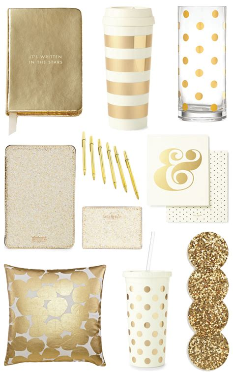 home decor supplies gold office accessories bright and beautiful chicago