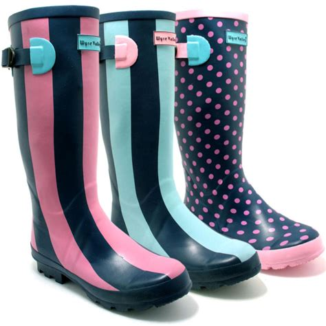 wellies boots new womens wyre valley wellies wellington boots sz 3 8 ebay