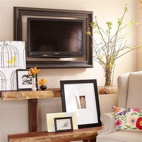 how to decorate around a l remodelaholic 95 ways to hide or decorate around the tv