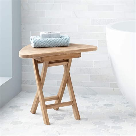 teak corner shower seat with basket corner shower chair teak benchwhite wood bathroom bench