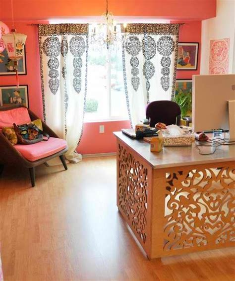 refined boho chic home office inspirations photos
