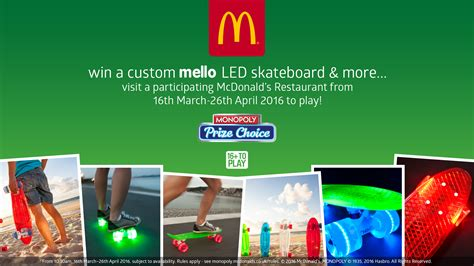 Mcdonalds Monopoly Instant Win Food Rules - mello on board with mcdonalds monopoly mello skateboards