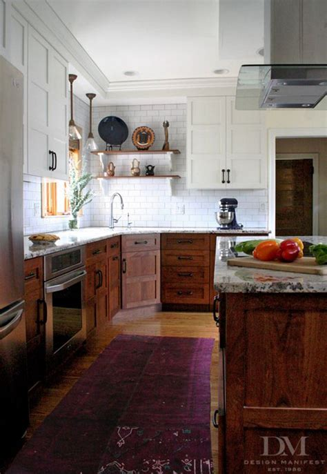 White Stained Kitchen Cabinets by 36 Best Stained And Painted Cabinets Together Images On