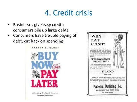 aesy kredit pp an ailing economy 1920s