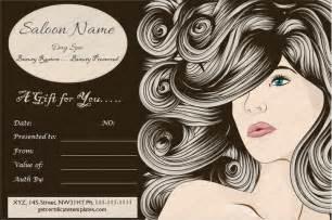 Free Printable Hair Salon Gift Certificate Template by Gift Certificate Template Free Premium