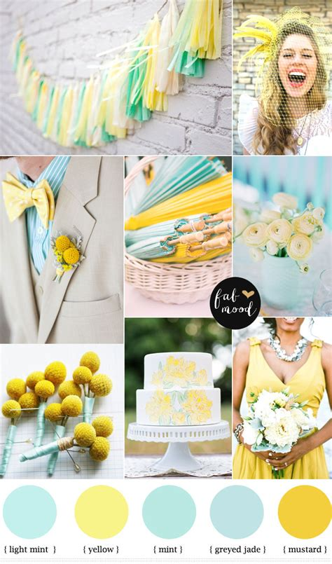 Modern Color Schemes by Mint And Yellow Wedding Colours Mint Green And Yellow