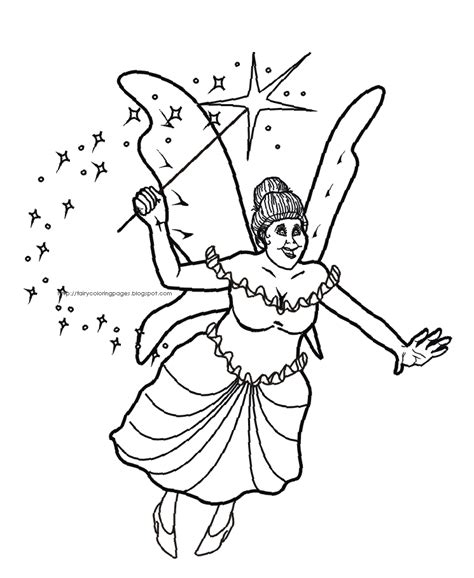 fairy god mother coloring pages free printable pictures