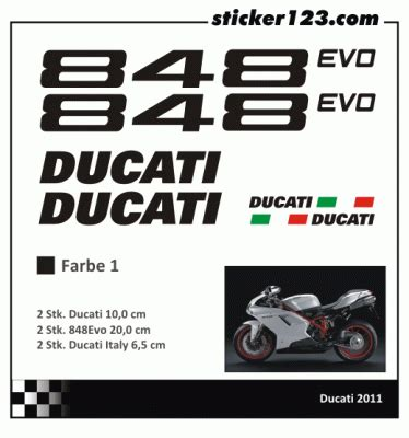 Ducati 848 Evo Aufkleber by Ducati 848 Aufkleber Motorrad Bild Idee