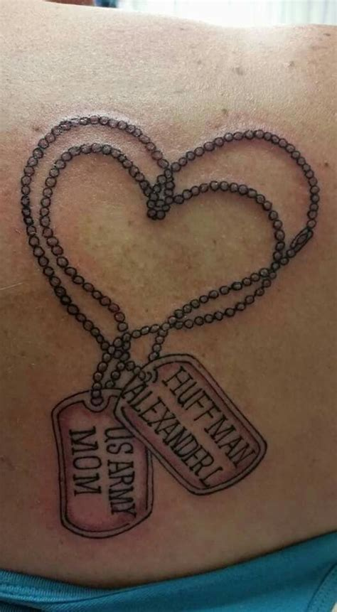 army mom tattoos army tags phillips ink my finished