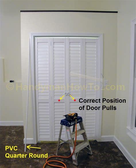 Install Bifold Closet Doors How To Install A Bi Fold Closet Door Handymanhowto
