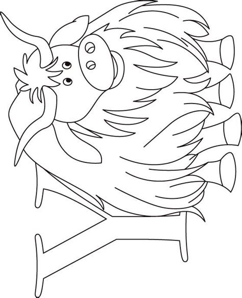 coloring page yak yak coloring pages