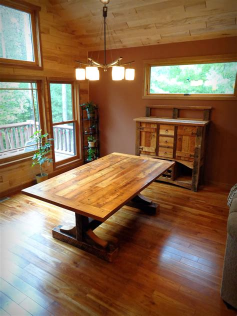 Reclaimed Dining Room Table Handcrafted Custom Built Wood Furniture Enterprise Wood Products