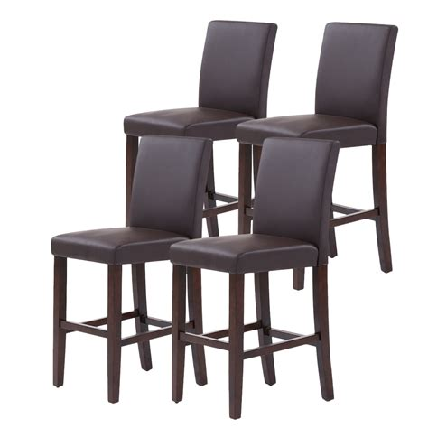 bar stools high back set of 2 4 6 8 modern leather bar stools dining chairs