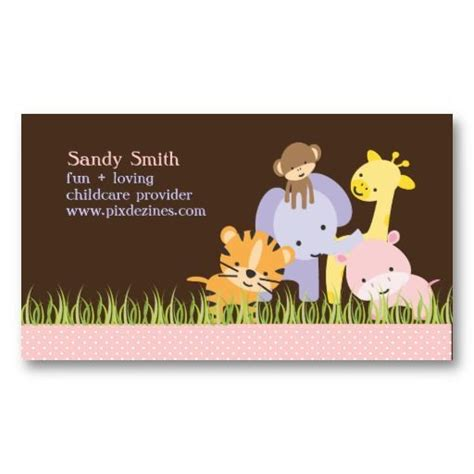 Childcare Business Cards Templates by Pixdezines Jungle Of Daycare Business Card Child