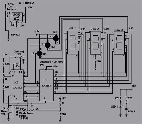 elektronika 25 skema rangkaian elektronika rangkaian pengukur suhu air digital koleksi skema