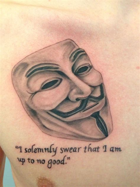 guy fawkes tattoo fawkes mask done by ram traverse city