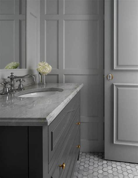 gray bathroom transitional bathroom