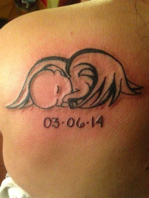 imagenes de tatuajes de un angel angelito dormido tatuajes para mujeres