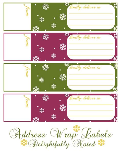 printable holiday wrap  address labels