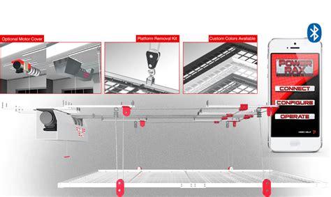 Motorized Overhead Garage Storage Systems by Motorized 4 X8 Platform A La Carte Canada Garage