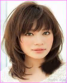 layered medium lenght hair with bangs haircuts for medium length hair 2017 style hairstyles