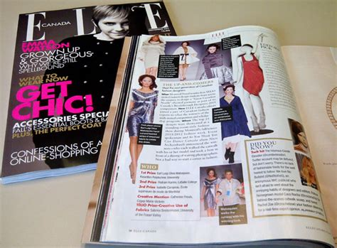 fashion design universities in canada ufv fashion student featured in elle canada ufv today