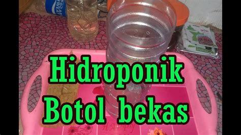 membuat hidroponik untuk pemula membuat pot hidroponik dari botol bekas untuk pemula 03