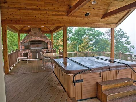 Small Outdoor Kitchen Designs by Rustic Tub With Outdoor Kitchen In Windham Ny