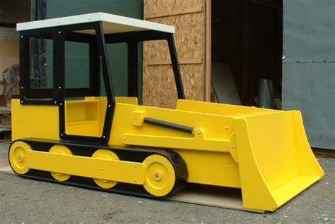 bulldozer bed boys construction trucks and tractor bed ideas design dazzle