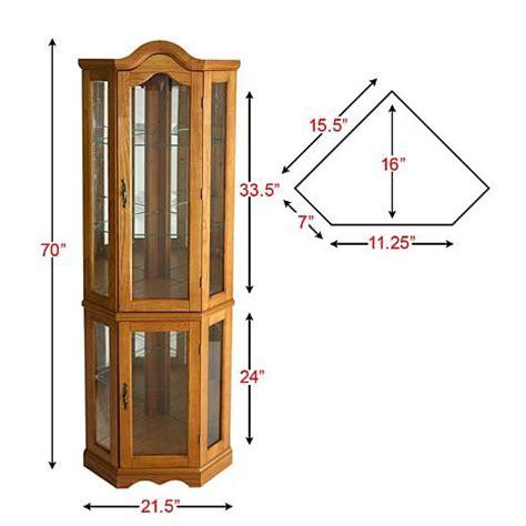 lighted curio cabinet oak lighted corner curio cabinet golden oak 6221876 hsn