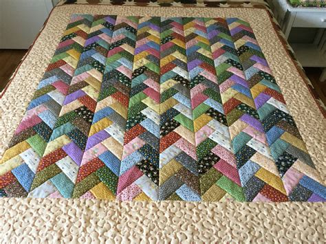 Jelly Roll Patchwork Quilt Patterns - this quilt used one jelly roll the fabrics is from the