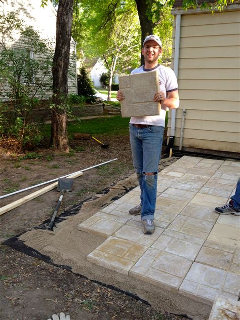 laying a patio bring on the yardwork part 1 installing a paver patio your home