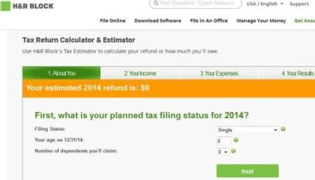 How do you use the H&R Block online tax calculator ... H And R Block 2016 Calculator