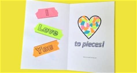 i you to pieces card template s day archives activities for