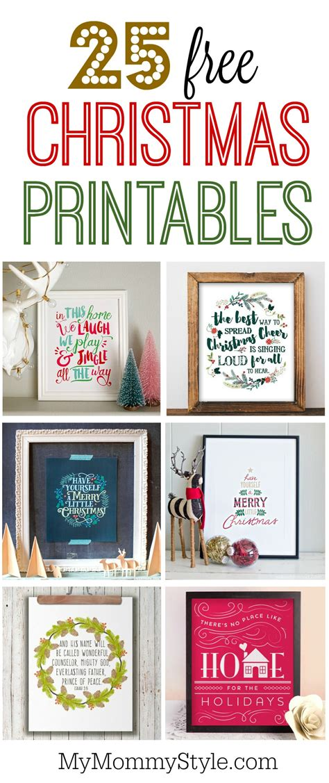christmas diy decorations printouts 25 free printables my style