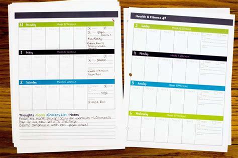 happy healthy life printable planner lauren gleisberg s happy healthy life printable planner