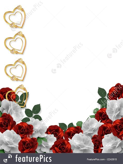 Illustration Of Wedding Border Red Roses