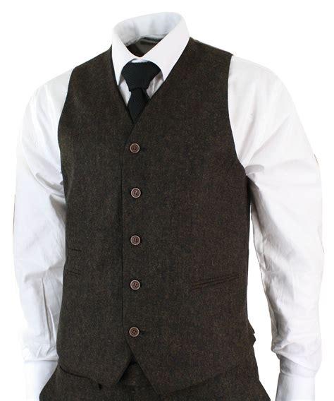 Kaos Longsleve Quiksilver Ori Bm 36 mens herringbone tweed 3 suit vintage tailored fit brown suede patch black