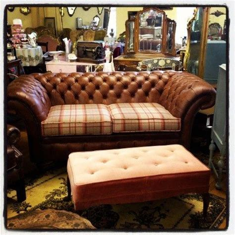 tartan chesterfield sofa gaiety antique and vintage store galway love leather and