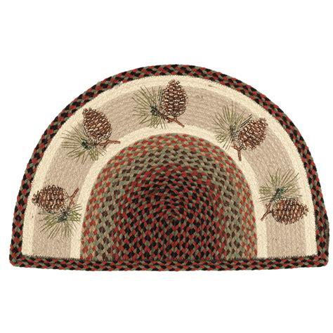Braided Doormat Pinecone Half Braided Rug