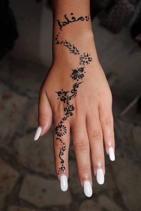 picture of a floral pattern on a hand and finger