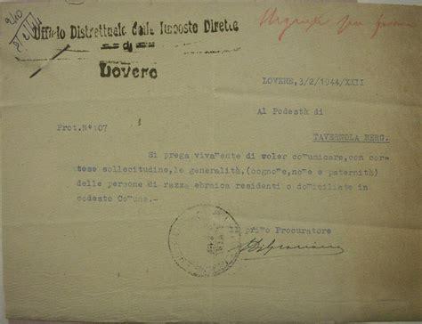 ufficio delle imposte dirette shoa 1944 02 03 richiesta ufficio imposte dirette di