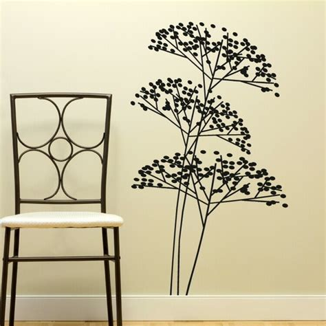 tree stencil for wall mural details about bush tree branch wall sticker modern home vinyl stencil mural new x10