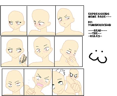 Meme Bases - expression meme base by yuminekochan on deviantart