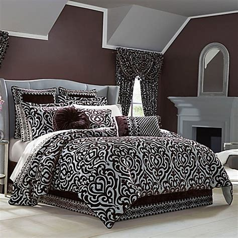 bed bath and beyond new york j queen new york sicily comforter set in plum bed bath beyond